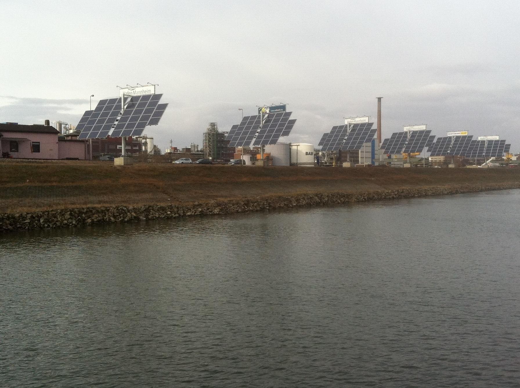 Photovoltaik-Tracker geplant d. wattwerk.eu
